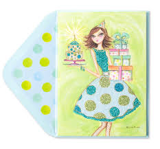 pilar in polka dot dress birthday cards papyrus