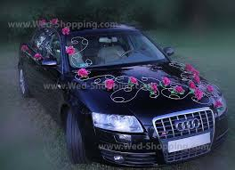kit deco voiture mariage wedding car deco set burgundy roses
