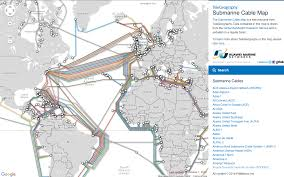 Algeria World Map Submarine Cable Map