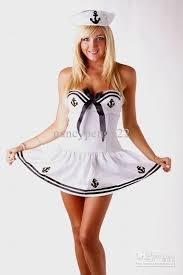 Navy Halloween Costumes 2017 White Sailor Halloween Costumes Dress Women Fancy