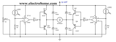 circuit diagram of home theater simple solar tracker circuit using lm358