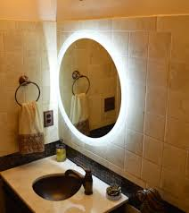 Illuminated Bathroom Wall Mirror Infinity Lighted Wall Mirror The Concept Of The Lighted Wall