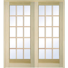 Interior Door Prices Home Depot Builder U0027s Choice 60 In X 80 In 15 Lite Clear Wood Pine Prehung