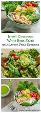 israeli couscous white bean salad with lemon pesto dressing