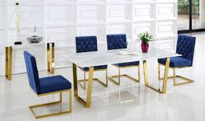 712 cameron dining room set in rich gold u0026 navy by meridian