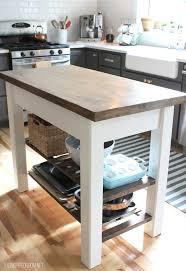kitchen looking diy portable kitchen island diy distressed - Portable Kitchen Island Plans