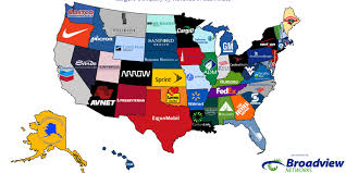 Walmart Map Here Are The Biggest Companies By Revenue In Each State Economics