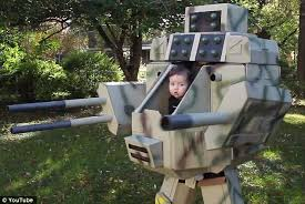 Robot Halloween Costume Ryan Bowen Rockville Feet Tall Diy Halloween Costume
