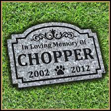 dog grave markers pet grave memorial marker paw print scroll design dog cat