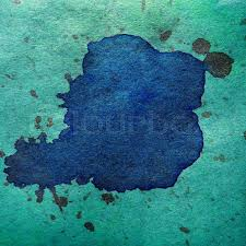 watercolor abstract blue green background paint color blob design