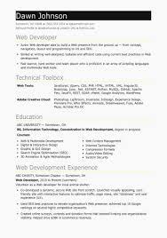 entry level resumes exles web developer resume exles inspirational 50 beautiful entry level