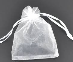 mini jewelry gift bags white organza bags 7 9cm pretty pouches fit