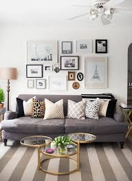 love these mixed and matched pillows in this living room living