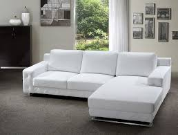 White Leather Sofa Sectional Modern Sectional Sofa In White Leather Modern Living Room