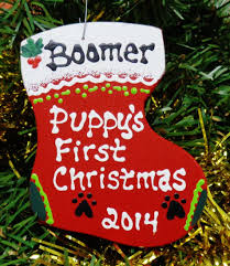 puppy u0027s first christmas tree decoration festive holiday