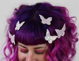 butterfly hair butterfly hair adornments hair accessory glitter