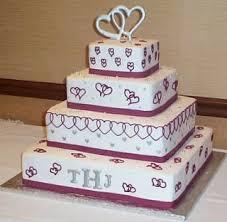 simple beach wedding cake designs heart square wedding cakes