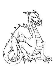 komodo dragon coloring page free printable dragon coloring pages