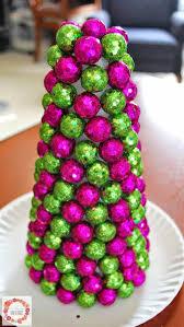 a glimpse inside glitter ball cone tree topper