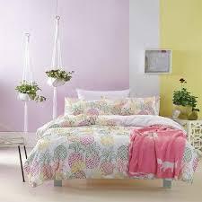 tropical pineapple duvet cover bedding set