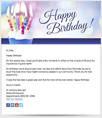 patient birthday emails patients chiropractic website