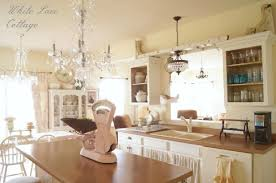 french chandelier white lace cottage