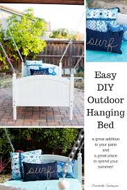 Diy Outdoor Daybed Easy Diy Hanging Bed Domestically Speaking
