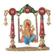 ganesh ji jhula idols statues for home décor at glowroad wqhsed