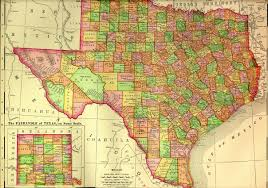 Old Texas Map Maps