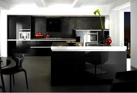 High Gloss Black Kitchen Cabinets 15 Black And Gray High Gloss Kitchen Designs Home Design Lover