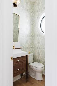 wallpaper designs for bathrooms ivory and celadon green powder room wallpaper transitional bathroom