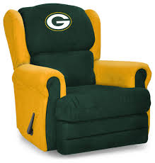 Green Bay Packers Bean Bag Chair Green Bay Packers Coach Recliner Contemporary Game Room And