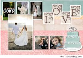 scrapbook wedding digital scrapbooking blushbutterwedding matrimonial scrapbooking