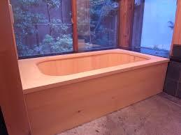 classic brown oak varnished wooden furniture japanese bathroom