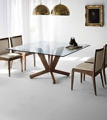 Square Glass Dining Table Square Glass Dining Table Wood Frontarticle