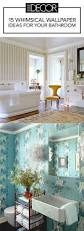 Small Bathroom Wallpaper Ideas Small Bathroom Decor Ideas Idolza