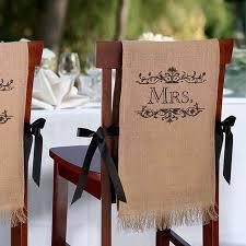 burlap chair covers quot mr mrs quot burlap chair covers