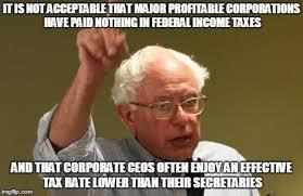 Voting Memes - unacceptable corporate taxes bernie sanders know your meme
