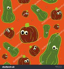 halloween background outlines vector outline pumpkins seamless pattern pumpkin stock vector