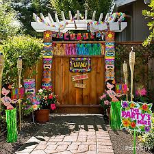 luau decorations luau entrance decorating idea totally tiki luau party ideas