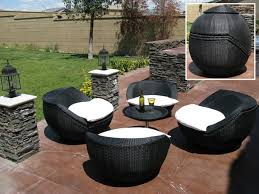 Cool FoldUp Wicker Patio Furniture Awesome Colour Too - Rattan outdoor sofas