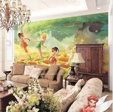 custom 3d tinkerbell fairies cartoon wallpaper mural kids u0027 room