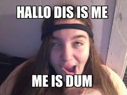 Derp Meme Generator - meme maker hallo dis is me me is dum