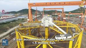 world u0027s first semi submersible automated offshore fish farm leaves