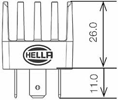 hella hl87251 mini solid state relay 12v 20a rally lights