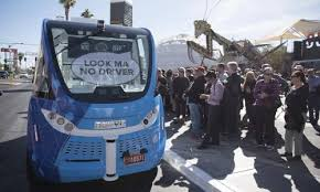 self driving bus involved in crash less than two hours after las