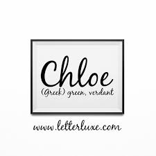 Baby Name Decor For Nursery Name Meaning Printable Baby Shower Gift Nursery
