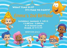 bubble guppies birthday party invitations dolanpedia invitations