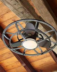 Caged Ceiling Fan With Light Ceiling Fans Outdoor U0026 Indoor Ceiling Fans At Neiman Marcus Horchow