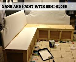 Build Corner Storage Bench Seat by Remodelaholic Build A Custom Corner Banquette Bench